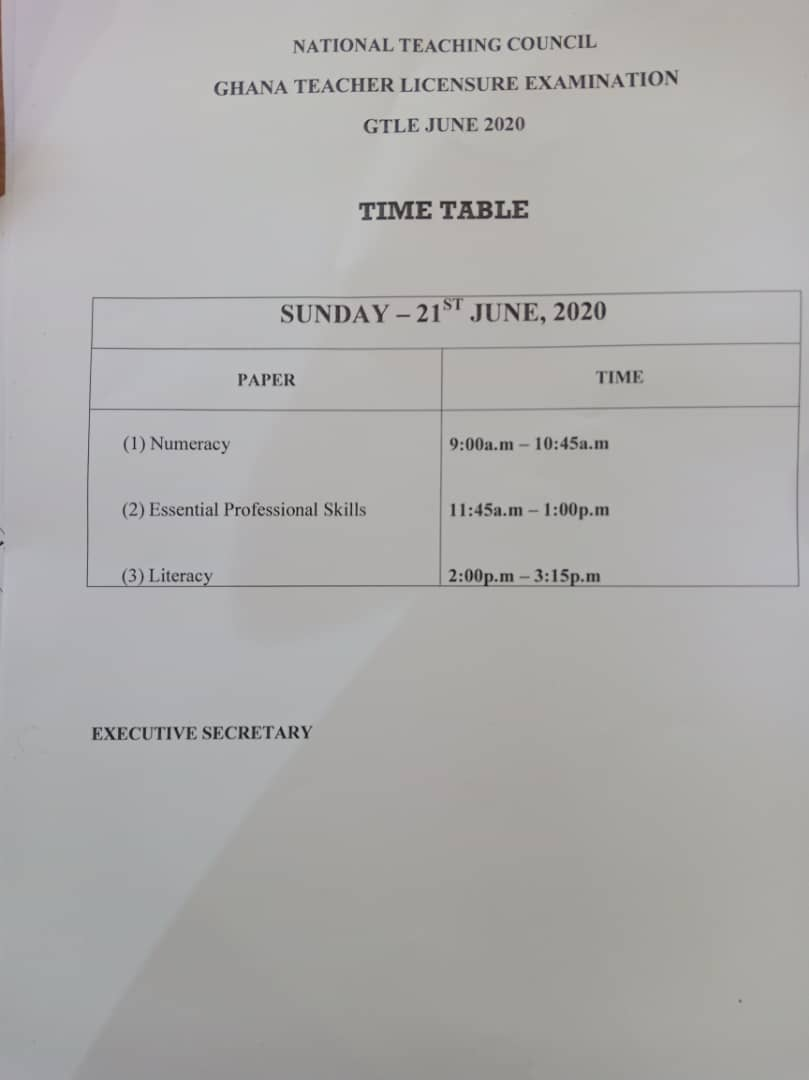 JUST IN: June 2020 Teacher Licensure Exam begins nationwide  today 2